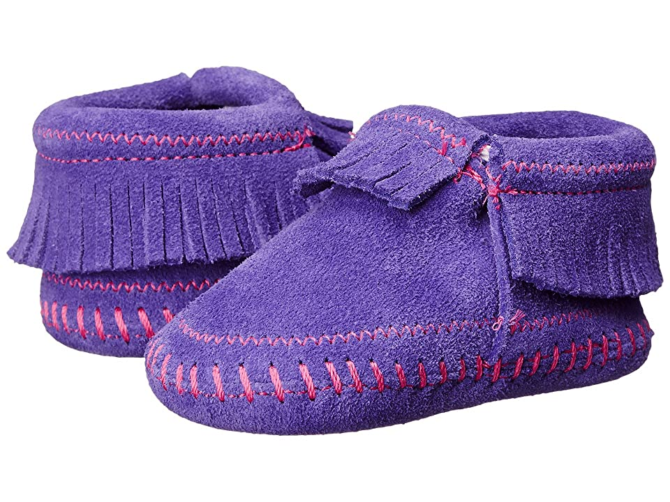 Minnetonka Kids Riley Bootie (Infant/Toddler) (Purple) Girls Shoes