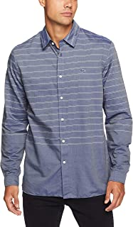 Lacoste Men's Slim Fit Placed Stripe Shirt