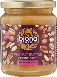 Biona Organic Peanut Butter Smooth with Sea Salt, 250 g