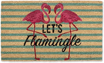 DII Indoor/Outdoor Natural Coir Fiber Spring/Summer Doormat, 18x30, Lets Flemingle