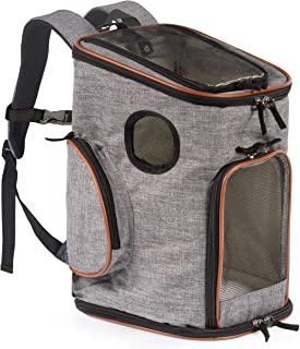 Pawfect Pets Soft-Sided Pet Carrier Backpack for Small Dogs and Cats Airline-Approved, Designed for Travel, Hiking, Walking & Outdoor Use