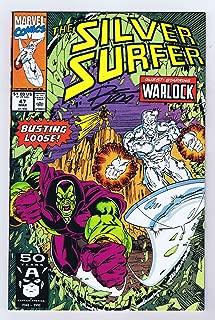 Silver Surfer #47 VF/NM Signed w/COA Ron Lim Adam Warlock Infinity Gauntlet 1991 Marvel Comics