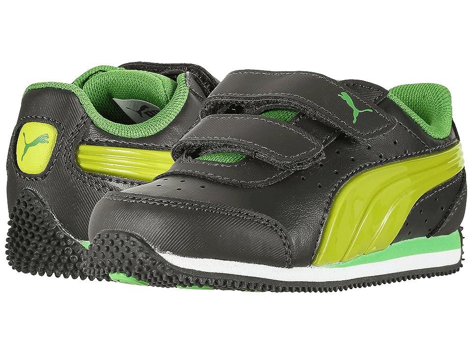 Puma Kids Speed Light Up Power V INF (Toddler) (Asphalt/Limepunch) Boys Shoes