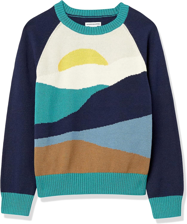 Amazon Essentials Indianapolis Mall Boys' online shop Crewneck Pullover Sweater