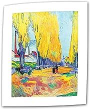 Art Wall Les Alyscamps F569 por Vincent Van Gogh 45,7 x 61 cm, lienzo plano/enrollado con borde de acento de 5 cm
