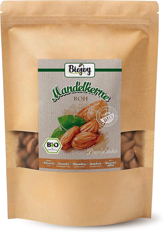 Biojoy Almendras crudas ecologicas, peladas sin sal y naturales (1 kg)
