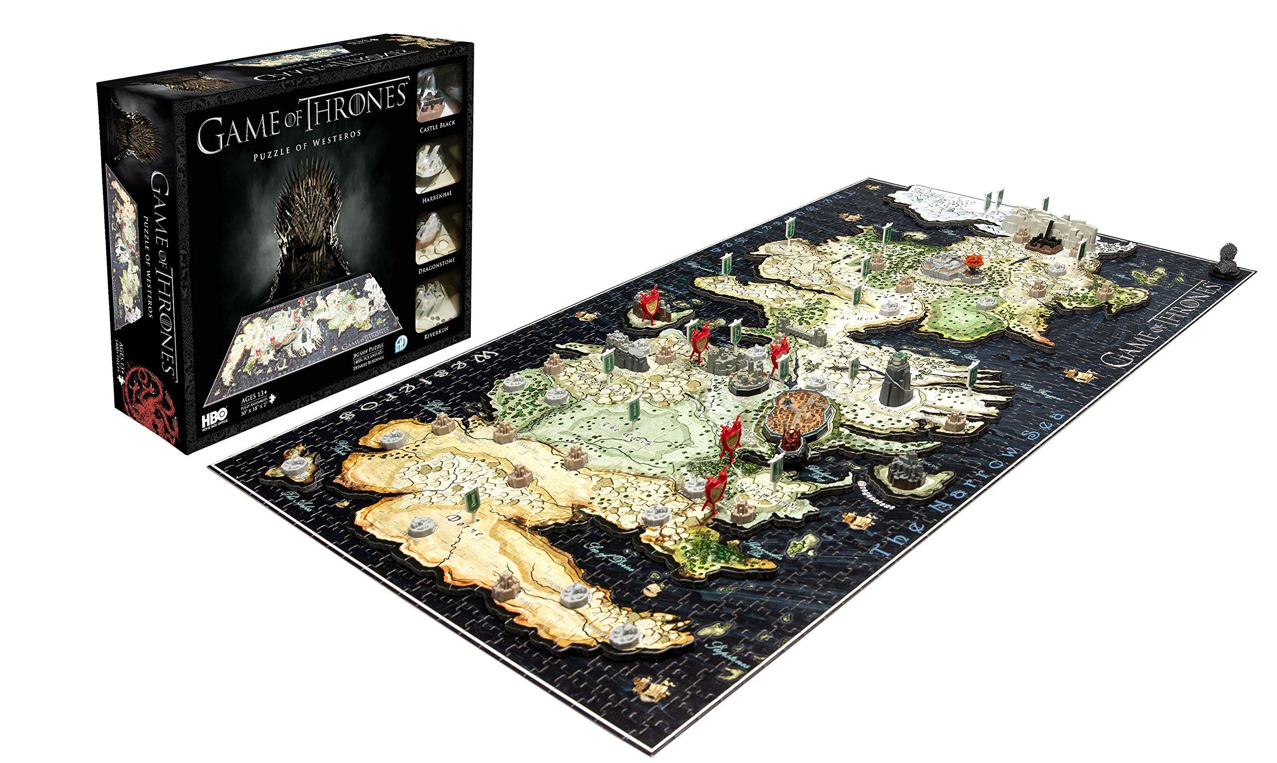 Juego de Tronos 51000 - Puzzle 4D (Eleven Force 10001) - Puzzle Poniente 4d (1400pzs): Amazon.es: Juguetes y juegos
