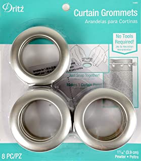 Dritz 14360 8 Piece Curtain Grommets, 1-9/16