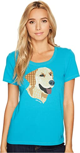 Life is Good - Yellow Lab Patchwork Crusher Scoop