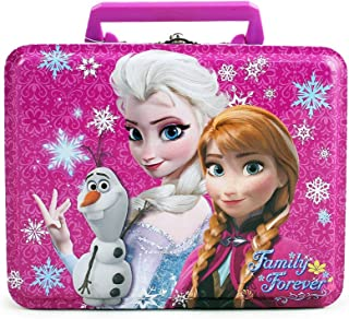 Disney Frozen Elsa, Anna and Olaf Deluxe Purple Tin Lunch Box 7