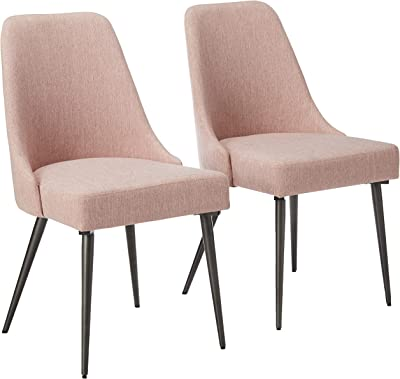Christopher Knight Home Dawn Modern Fabric Dining Chairs (Set of 2), Light Blush