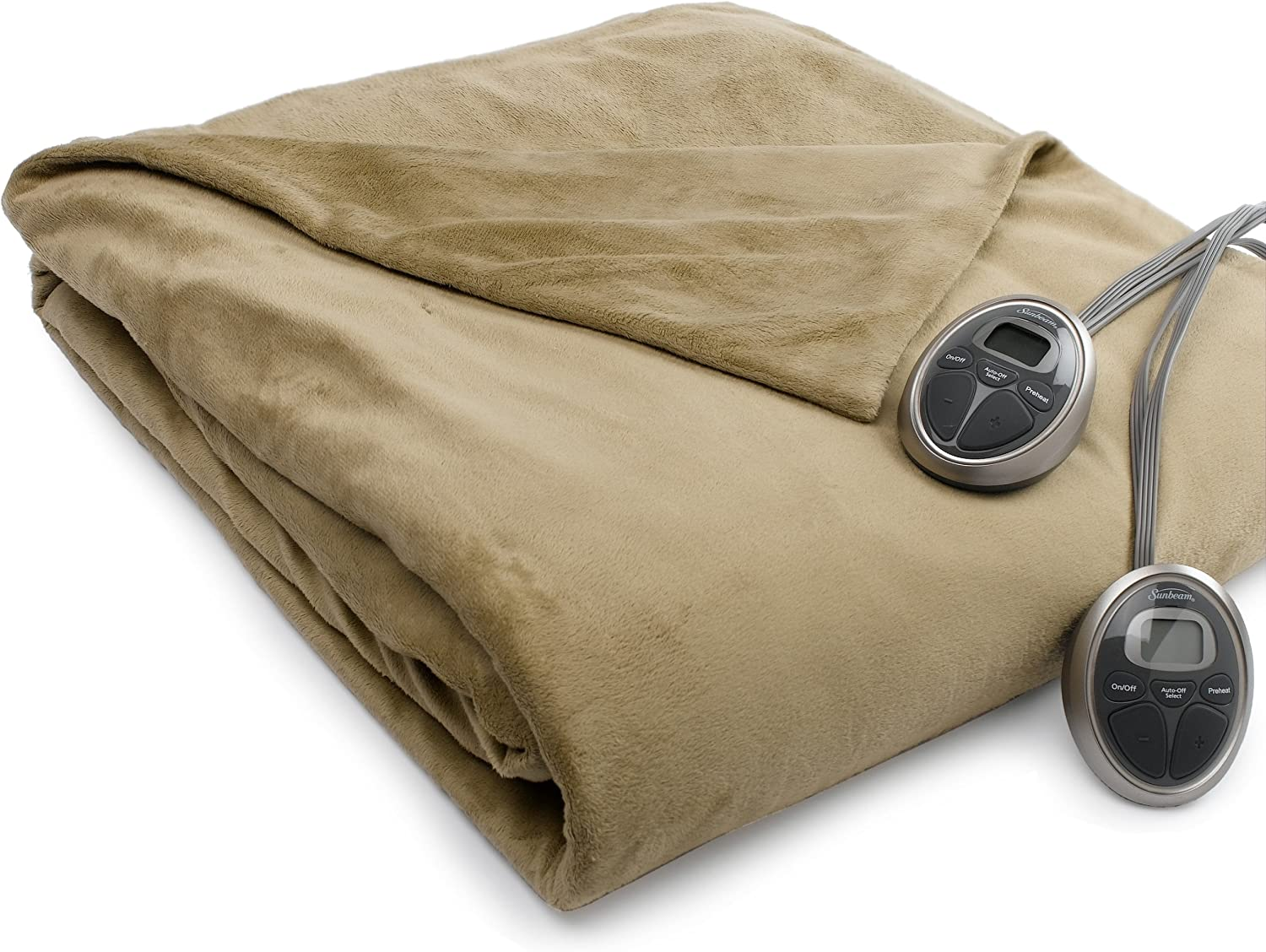 Mail order Sunbeam Camelot Our shop most popular Retreat Queen Blanket Polyester Microfib Heated