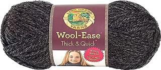 Lion Brand Yarn 641-149 Wool-Ease Thick & Quick Bonus Bundle Yarn, Charcoal