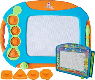 CHUCHIK Toys Magnetic Drawing Board Set for Kids and Toddlers. Large 15.7 Inch Magna..