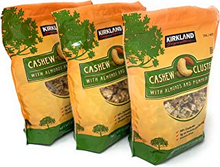 Cashew Clusters with Almonds and Pumpkin Seeds 2 Pound Bag 3 Pack