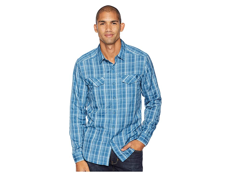 Royal Robbins Bug Barrier Ultra Light Long Sleeve Shirt (Blue Stone) Men