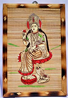 DC ECO Home Decor/HANDICRAFTS/Religious Idol Lord LAXMI Wall Hanging/Bamboo Product (Made in India).