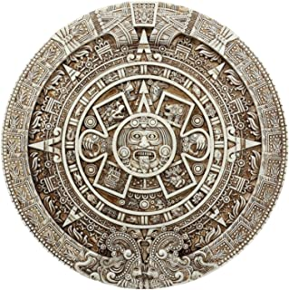 """Ebros Mexica Aztec Solar Xiuhpohualli & Tonalpohualli Wall Calendar Sculpture 10.75"""" Diameter Mesoamerican Calendar Wall Plaque Figurine"""