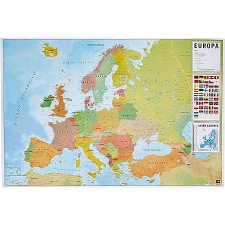 Cartina Europa.Grupo Erik Gpe5045 Poster Mappa Europa Es Fisico Politico Carta Multicolore 91 X 61 5 X 0 1 Cm Amazon It Cancelleria E Prodotti Per Ufficio