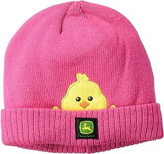 John Deere Girls' Toddler Winter Cap, Pink