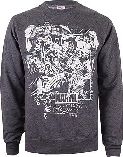 Black Blk X-Large para Hombre Marvel Knights Paintspray Skull Sudadera Negro