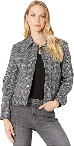 Houndstooth Plaid White/Black
