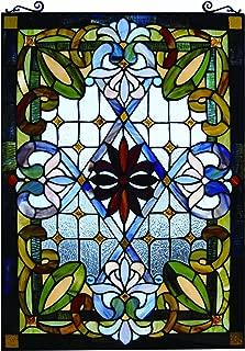 Fine Art Lighting JP92 Tiffany Window Panel, 480 Glass Cuts, 20 by 29