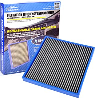 POTAUTO MAP 1003C Heavy Activated Carbon Car Cabin Air Filter Replacement for ACURA, CSX, ILX, RL, RLX, TL, TSX, ZDX, MDX,...