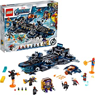 LEGO Marvel Avengers Helicarrier 76153 Fun Brick Building Toy with Marvel Avengers Action Minifigures, Great Gift for Kids...