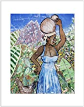 Key West Street Art Photo 8x10 Matted Print Black Woman with Chicken