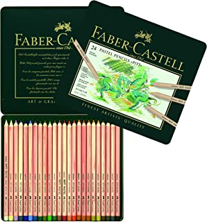Faber-Castell Pitt Pastel Colour Pencils Tin of 24, (27-112124)