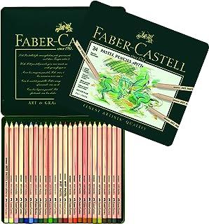 comprar comparacion Faber-Castell 112124 - Estuche de metal con 24 ecolápices Pitt pastel, multicolor