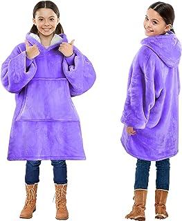 Carigellia Son-ic Wearable Blanket,Flannel Hoodie Sweatshirt,Warm Ultra-Soft Pajamas Portable Sleeves Pullover Sherpa Hooded Throw Blanket,for Kids Boys Girls S