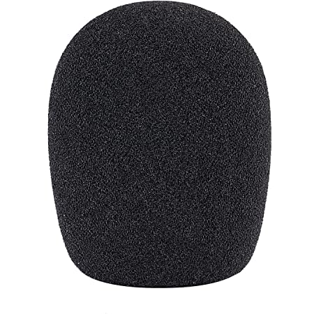 Neewer Parabrisa Filtro Antipop tipo Bola de Espuma para Micrófono Condensador 2.36x1.57x2.75 in / 6x4x7cm, Negro