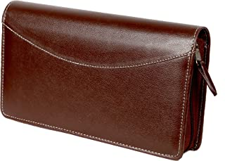 Sukeshcraft Multiple Cheque Book Holder RFID Safe and Credit Card - 22 Slots - Brown