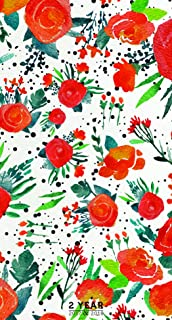2017-2018 Floral 2 Year Pocket Calendar