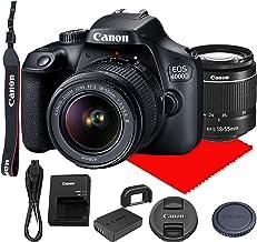 Canon EOS 4000D DSLR Camera w/Canon EF-S 18-55mm F/3.5-5.6 III Zoom Lens (Renewed)