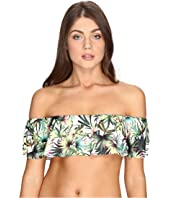 Lucky Brand - Coastal Palms Off the Shoulder Bandeau Top