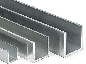 1500mm Aluminium U-Profil 15x40x15mm Abdeckprofil aus Aluminium Riffelblech Duett Tr/änenblech Kantblech kreativ bauen