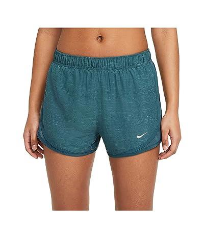 Nike Tempo Shorts Heather (Dark Teal Green/Wolf Grey) Women