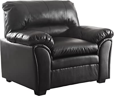 Homelegance Talon Contemporary Chair Bonded Leather, Black