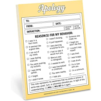 Knock Knock Apology Nifty Notes