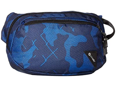 Pacsafe Vibe 100 Anti-Theft Hip and Crossbody Pack (Blue Camo) Cross Body Handbags
