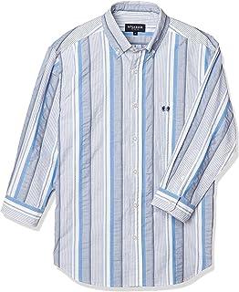 (マックレガー) McGREGOR 7分袖サッカーストライプBDシャツ