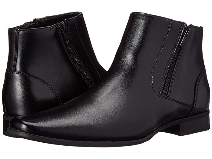 Beck  Shoes (Black Leather) Men's Zip Boots