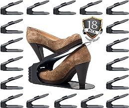 Benji Bros Shoe Slots space saver 18 piece set shoe rack organizer