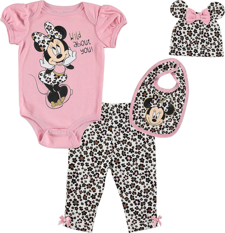 Disney Minnie Mouse Baby Girls 4 gift Bodysuit Pan Piece New sales Set: Layette