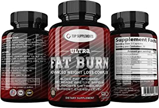Ultra Fat Burn, Stimulant Free Weight Loss Support with Garcinia Cambogia, CLA and Green Tea Leaf Extract and Apple Cider Vinegar (30 Servings).
