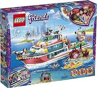 LEGO41381FriendsRescueMissionBoatandLegoIslandToyforKidswithOlivia,AndreaandMiaMiniDolls,plusRobotand...