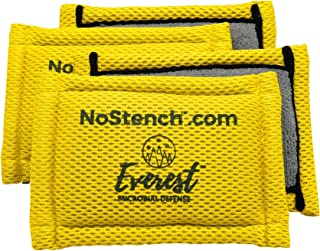NoStench Scrubbing Sponge by Everest Microbial Defense | Durable Antibacterial Microfiber Mesh and Terry Cloth, No Odor, Antimicrobial | Germ-Free Lifestyle Product | 4 Pack | 90 Day Guarantee